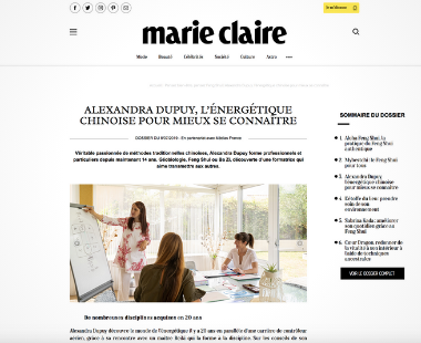 Marie Claire Alexandra Dupuy Feng Shui